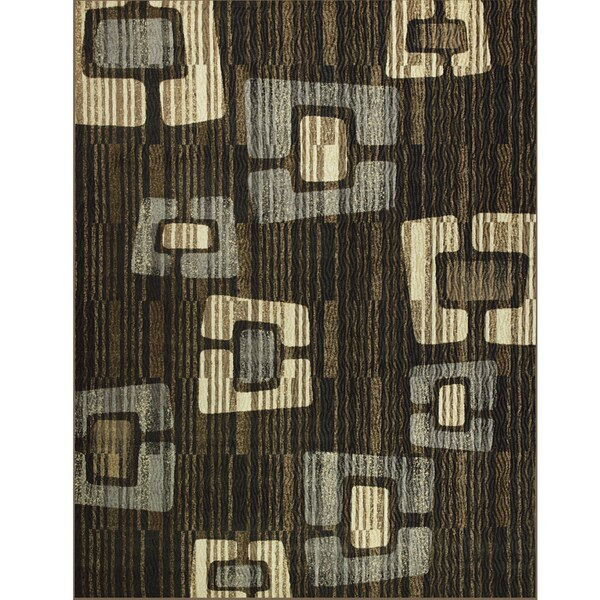 Somette Avante Improvisation Chocolate Rug (9' x 12')