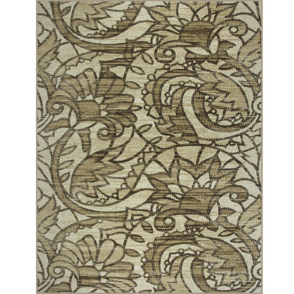 Somette Avante Sweet Remembrance Beige Rug (9' x 12')