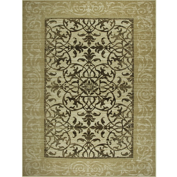 Somette Avante Delicate Attentions Beige Rug (9' x 12')