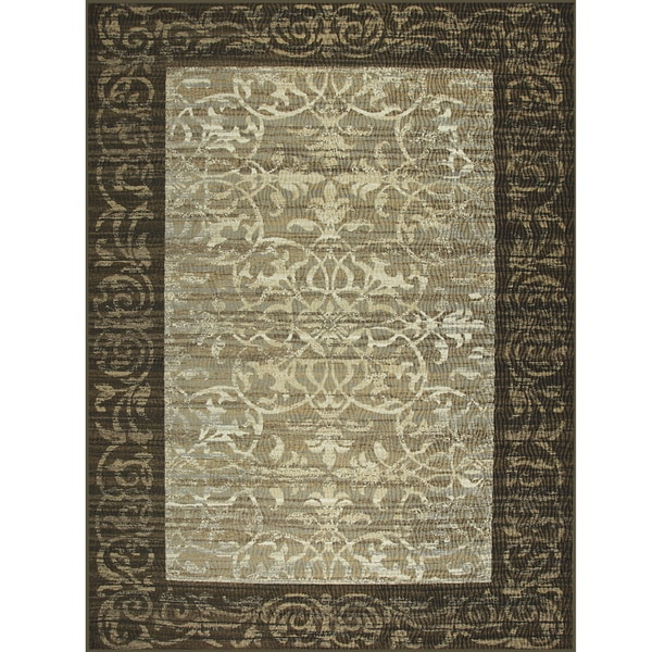 Somette Avante Delicate Attentions Chocolate Rug (9' x 12')