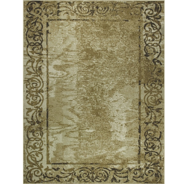 Somette Avante Classic Inspiration Beige Rug (9' x 12')