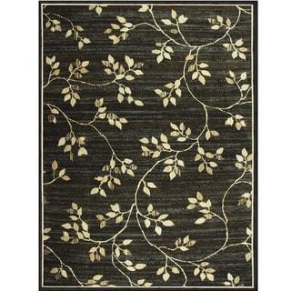 Avante Garden Elegance Charcoal Rug (9' X 12')
