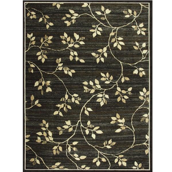 Somette Avante Garden Elegance Charcoal Rug (9' X 12')