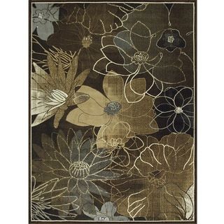 Avante Blossoming Elegance Chocolate Rug (9' x 12')