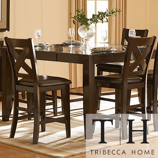 Tribecca Home Acton Merlot X-back Counter Height Stool (Set of 2)