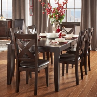 Tribecca Home Acton Warm Merlot X-back Casual 7-piece Dining Set