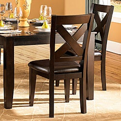 Acton Warm Merlot X-back Casual Dining Side Chairs (Set of 2)