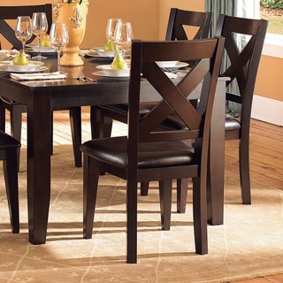 TRIBECCA HOME Acton Warm Merlot X-back Casual Dining Side Chairs (Set of 2)