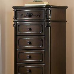 Fairytale Victorian Princess Dark Brown 7-drawer Tall Chest