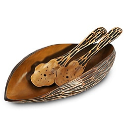 Enrico Mango Wood Serving Bowl and Servers (Thailand)