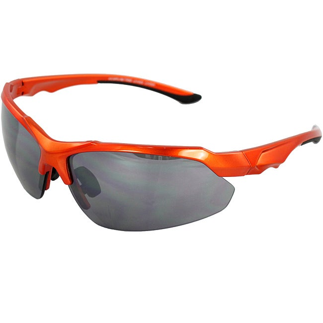 Unisex Orange Fashion Semi-rimless Sunglasses
