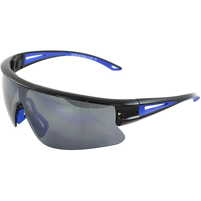 Unisex Black/ Blue Sports Sunglasses