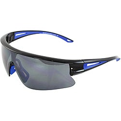 Unisex Black/ Blue Sports Sunglasses