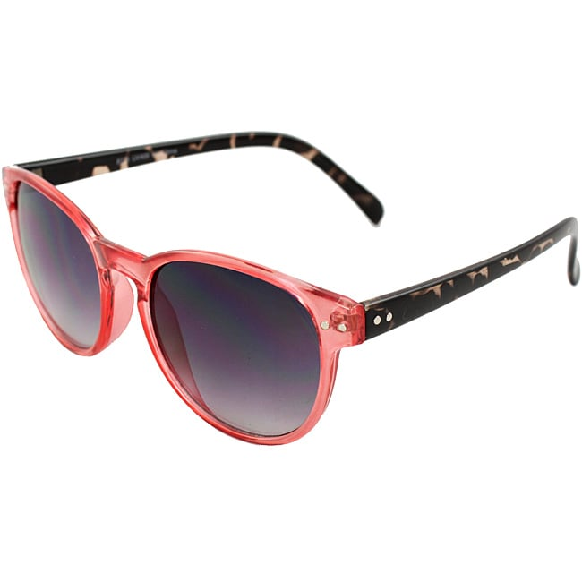 Retro Round Fashion Sunglasses Orange With Brown Leopard Frame Purple Black Lenses For Women And Men