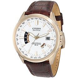 Citizen Men's Eco-Drive White-Dial Atomic Timekeeping Watch