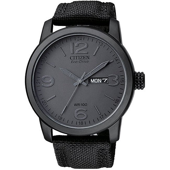 citizen s bm847500f eco drive black ip stainless steel
