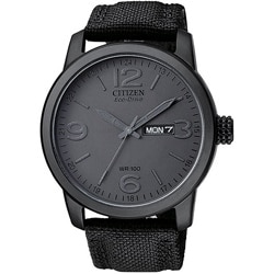 Citizen Men's Eco-Drive Black IP Stainless Steel Watch