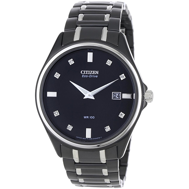 Citizen Men's Eco-drive Diamond Watch