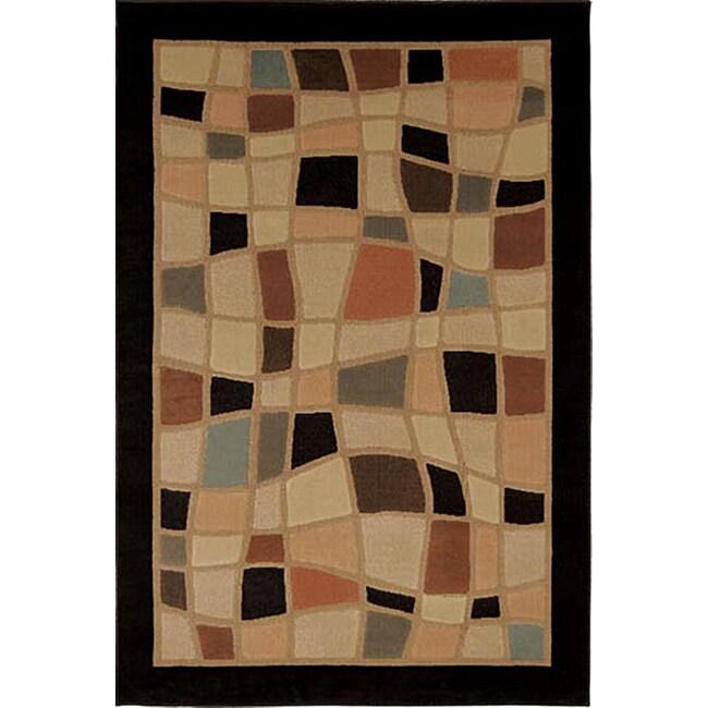 Miranda Wavy Geometric Contemporary Rug (7'10 x 10'5)