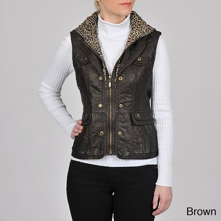Montanaco Women's Faux Lamb Vest With Knit