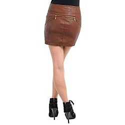 Stanzino Women's Plus-size Coffee Brown Mini Skirt