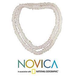 Rose Quartz 'Aura' Beaded Necklace (India)