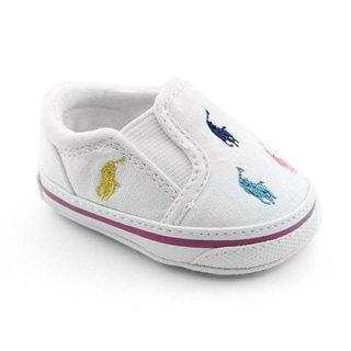Ralph Lauren Layette Infant's Bal Harbour Repeat White Casual Shoes