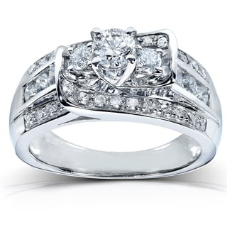 Annello 14k White Gold 1ct TDW Diamond Engagement Ring (G-H, I1-I2)
