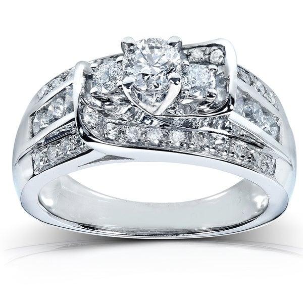 Annello 14k White Gold 1ct TDW Diamond Engagement Ring (G-H, I1-I2)