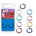 Surgical Steel/ Copper Colorful Non-piercing Illusion Hoops (Set of 2)