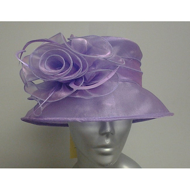 Swan Hat Women's Lavender Organza Packable Hat