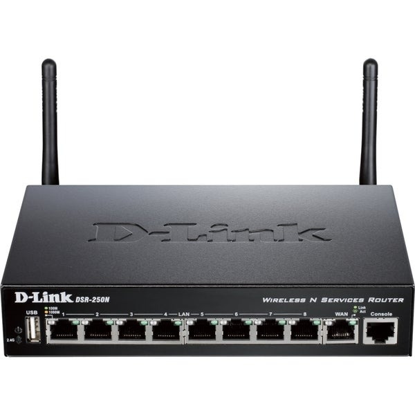 D-Link DSR-250N 8-Port Gigabit Wireless VPN Router with Dynamic Web C