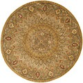 Safavieh Handmade Heritage Medallion Light Brown/ Grey Wool Rug (8' Round)