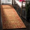Safavieh Handmade Heritage Beige/ Rust Wool Rug (2'3 x 12')