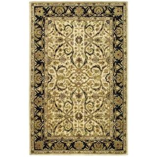 Handmade Heritage Treasures Ivory/ Black Wool Rug (9'6 x 13'6)