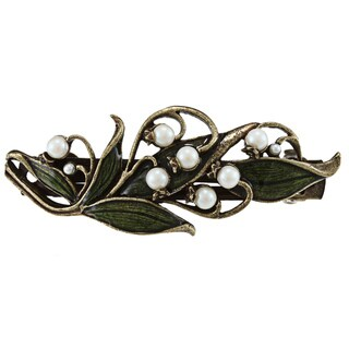 Sweet Romance Lily of the Valley Hair Barrette