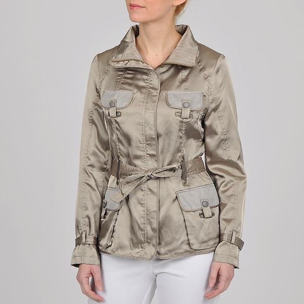 Montanaco Women's Silver Belted Safari Jacket