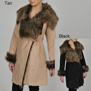 Regent Women's 3/4-length Faux Fur Shearling Jacket