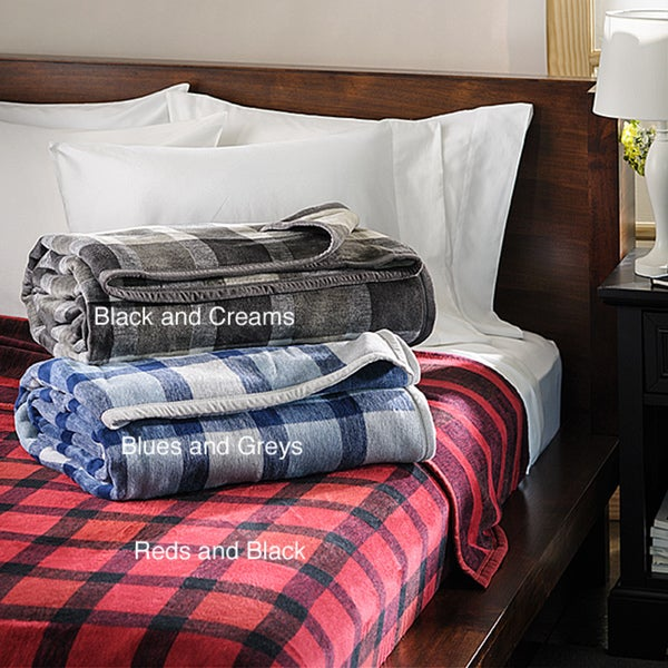 German Jacquard Plaid Plush Blanket
