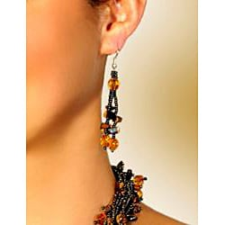 'Luzy Mocha' Handmade Earrings (Guatemala)