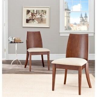 Safavieh Chic Beige Walnut Finish Side Chair (Set of 2)