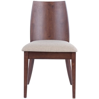 Safavieh Chic Beige Walnut Finish Side Chair (Set of 2)