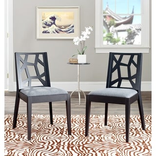 Safavieh Chic Puzzles Grey/ Black Side Chair (Set of 2)