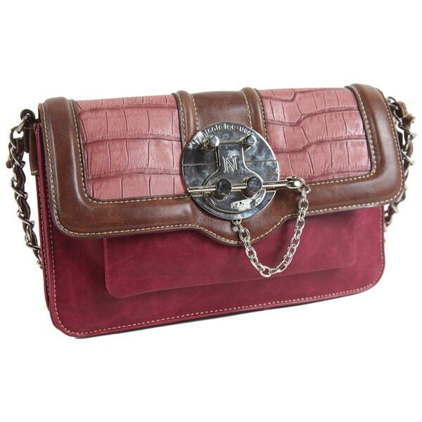 Nicole Lee Jackie Pin-Lock Shoulder Bag