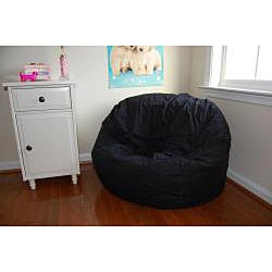 Black Organic Cotton Washable Bean Bag Chair