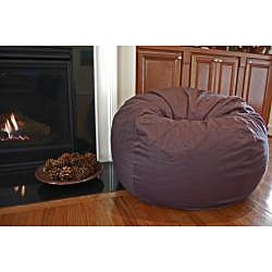 Ahh Products Charcoal Grey Organic Cotton Washable Bean Bag Chair