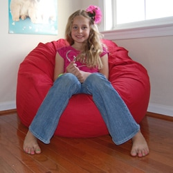 Ahh Products Red Organic Cotton Washable Bean Bag Chair