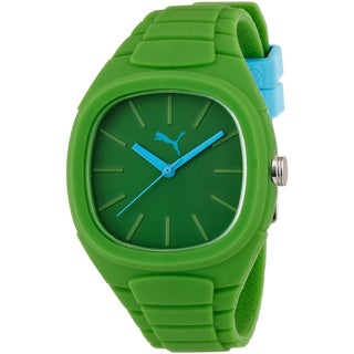 Puma 'Bubble Gum' Green Silicone Watch