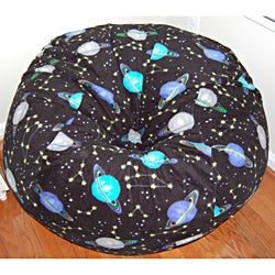 Outer Space Fleece Washable Bean Bag Chair