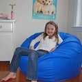 Ahh Products Blue Organic Cotton Washable Bean Bag Chair
